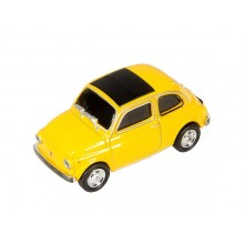 AutoDrive, USB 2 Flash Drive, Fiat 500 yellow, 8 GB