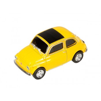 AutoDrive, USB 2 Flash Drive, Fiat 500 yellow, 16 GB