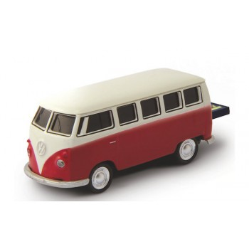 AutoDrive, USB 2 Flash Drive, VW Bus Red, 16 GB