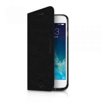 Macally SlimFolio, Flip Case for iPhone 6/6s, Black