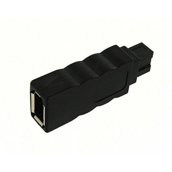 FireWire 800 to 400 adapter, Black, 6 pin female to 9 pin male