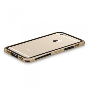 Macally IronRim, bumper frame case for iPhone 7/6/6s, Champagne