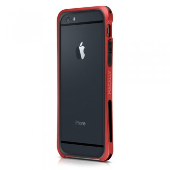 Macally IronRim, protective bumper case for iPhone 6/6s, Red