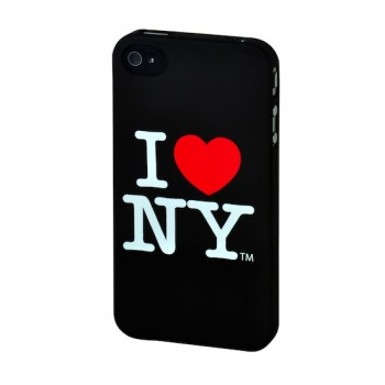 I love New York Hard Case, for iPhone 4S, Black