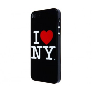I love New York Hard Case, for iPhone SE/5s/5, Black