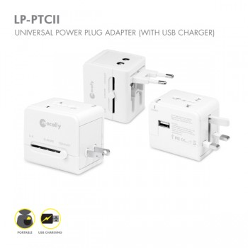 Macally LP-PTCII, Universal Travel Adapter iPhone, iPad, iPod