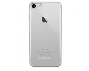 Macally LUXRP7M-S, TPU case for iPhone 7, Silver