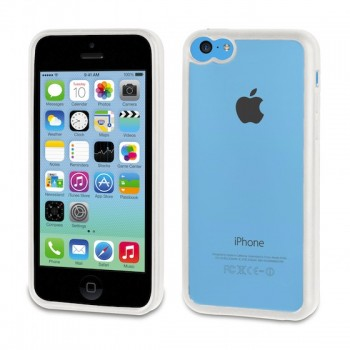 muvit Bimat, for iPhone 5c, White/Transparent