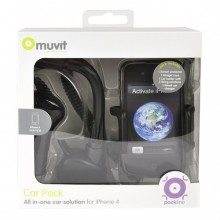 muvit Car Pack for iPhone 4S & 4, MUPAKPRMIP4G001