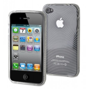 muvit miniGEL Waves for iPhone 4, transparent