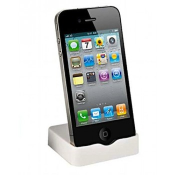 Muvit Slim Dock Charging cradle for iPhone 4S & 4, white