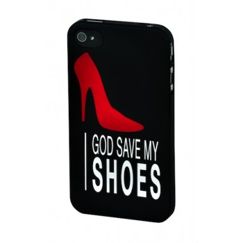 "SKILLFWD Girls' Case, for iPhone 4S, ""God save my Shoes"""