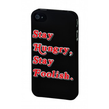 "SKILLFWD Quotes Case ""Hungry & Foolish"" (large), for iPhone 4S"