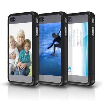 Marware CustomShell for iPhone 4, Black/Transparent