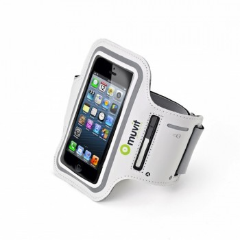 muvit Armband, for iPhone SE/5 & iPod touch 5G, White