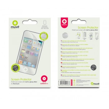 muvit Screen Protector for iPod touch 4G, 2 Pack, matt+glossy